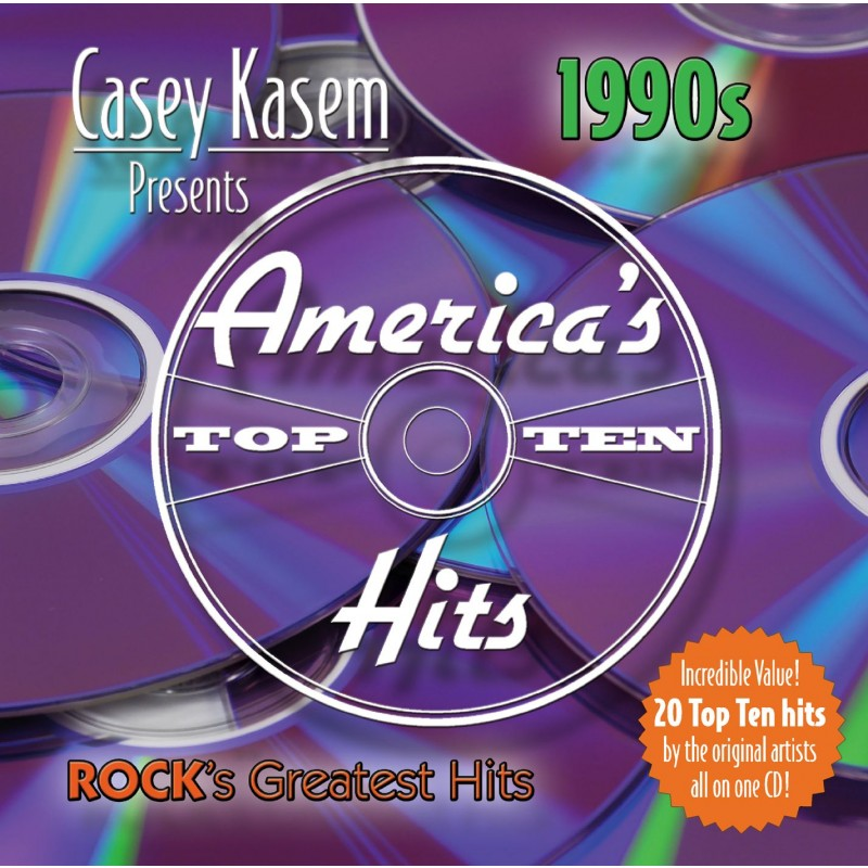 Casey Kasem Presents: Americas Top Ten - The 1990s Rock's Greatest Hits (CD)