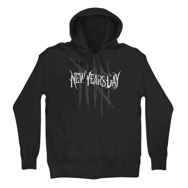 Red Distress Pullover Hoodie