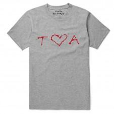 Grey TA Red Heart T-Shirt