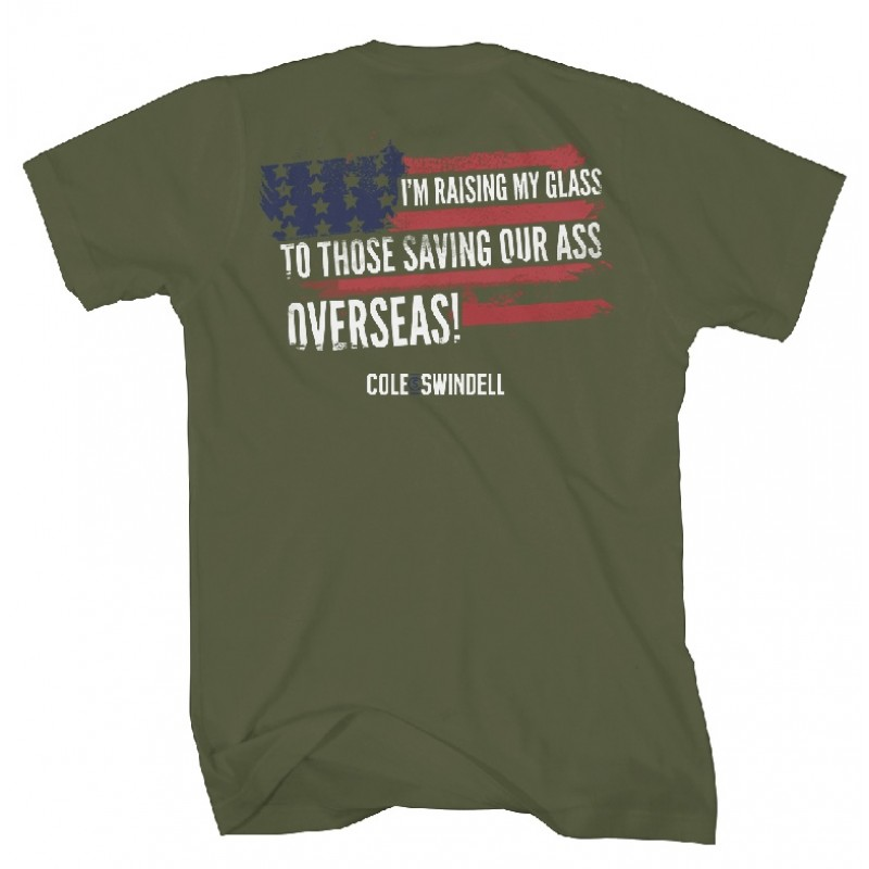 Patriotic Military Green T-Shirt