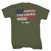 Patriotic Military Green T-Shirt