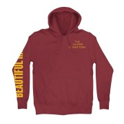 Beautiful Mind Embroidered Pullover Hoodie (Maroon)
