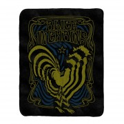 Psychedelic Rooster Blanket