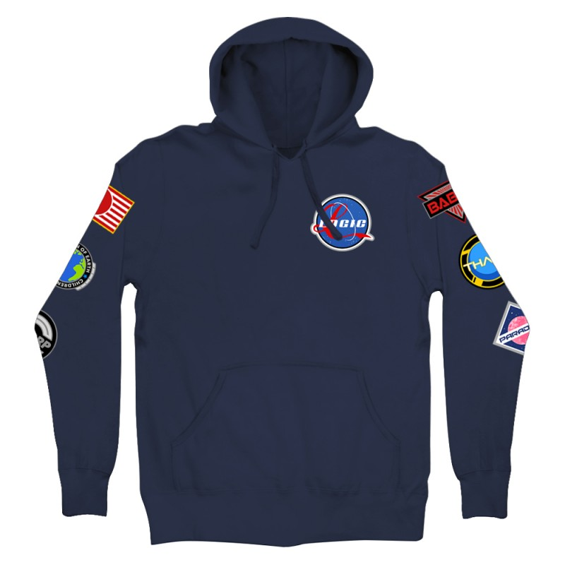 Space Patches Pullover Hoodie