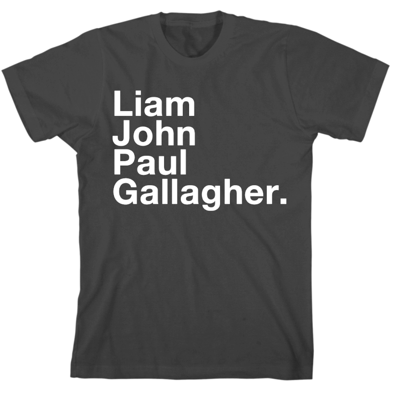 Liam, John, Paul Gallagher T-shirt