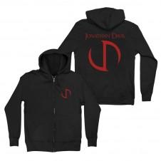 JD Red Logo Zip Hoodie