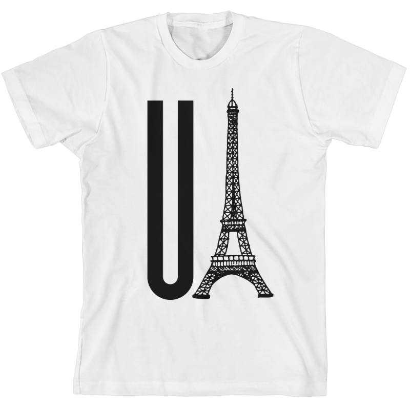 You Eiffel White Unisex T-Shirt