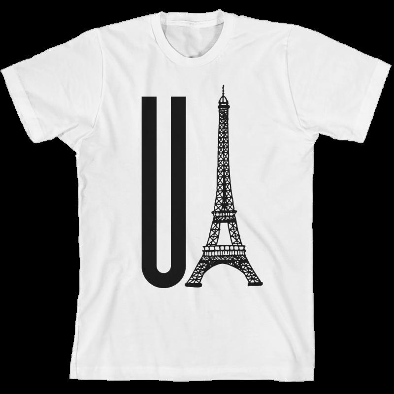 You Eiffel White Unisex T-Shirt