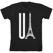 You Eiffel Black Unisex T-Shirt