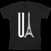 You Eiffel Black Unisex T-Shirt