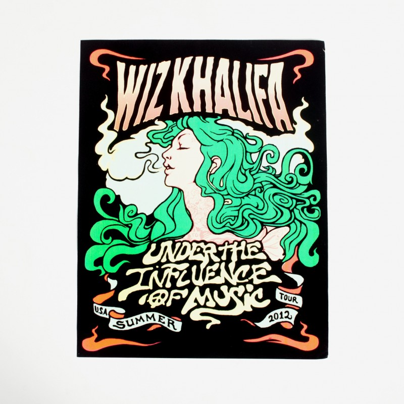 Under the Influence Blacklight Poster
