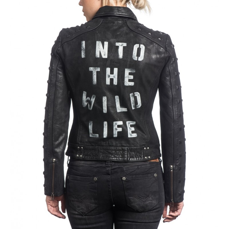 Into The Wildlife Autographed Leather Jacket (Women's)