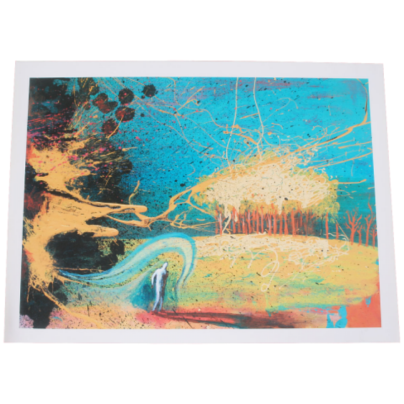 THE FLAMING LIPS COSMIC AUTUM LITHOGRAPH M62221 .png