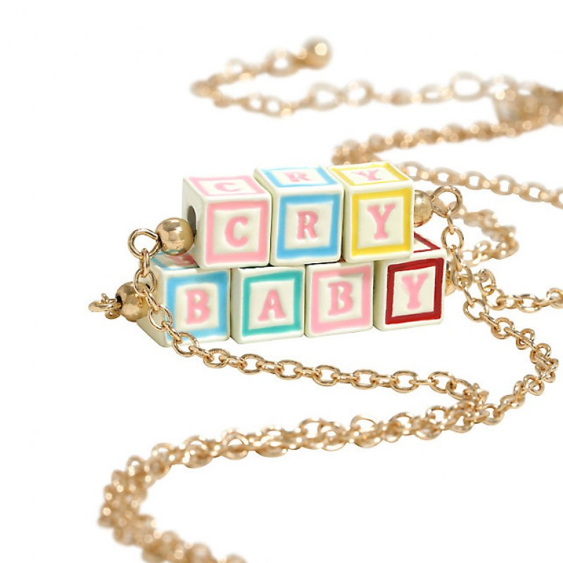 Cry Baby Blocks Necklace