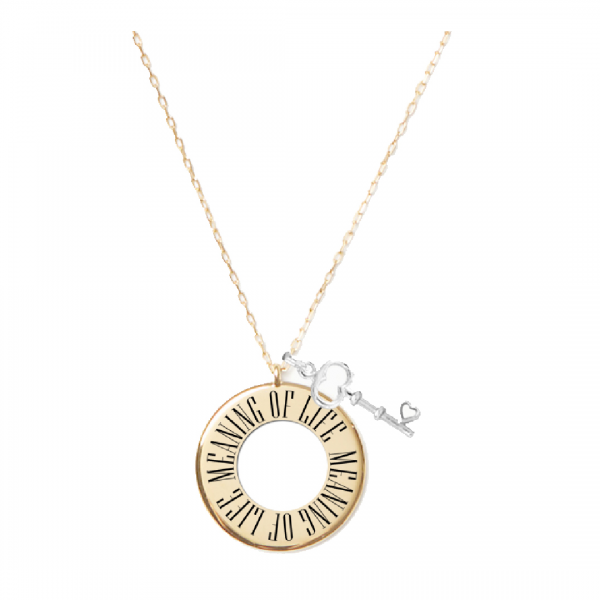 Meaning of life circle necklace click for larger image aloadofball Choice Image