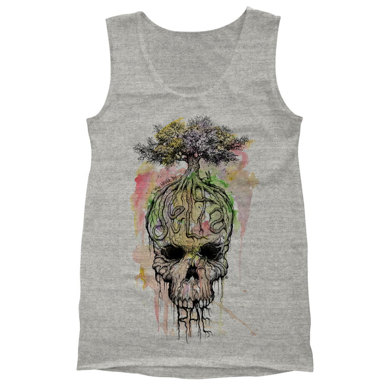 Watercolor Skull Tank