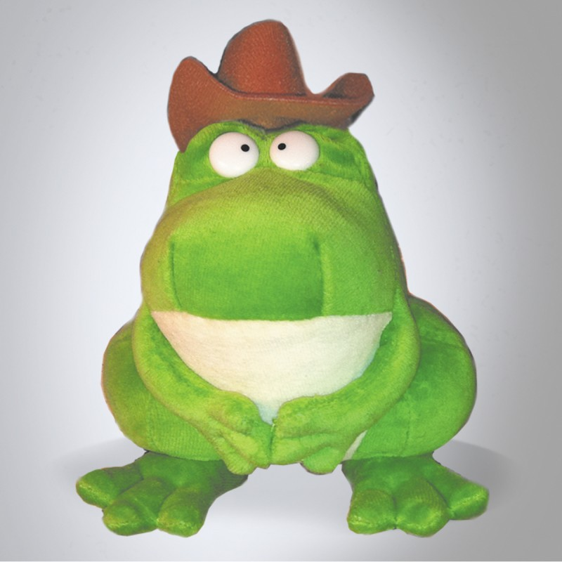 Zeke, the Cowboy Frog (Plush Toy)
