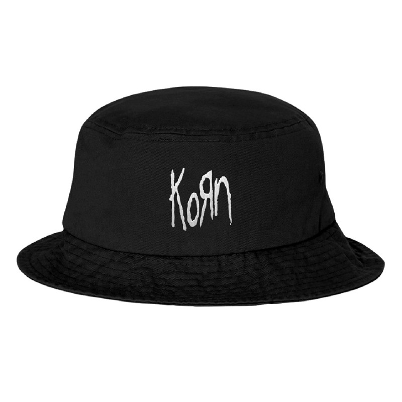 Korn Embroidered Bucket Hat (One Size)