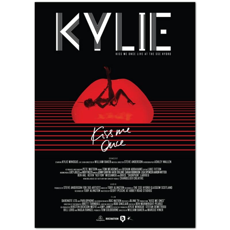 Kiss Me Once Live Poster
