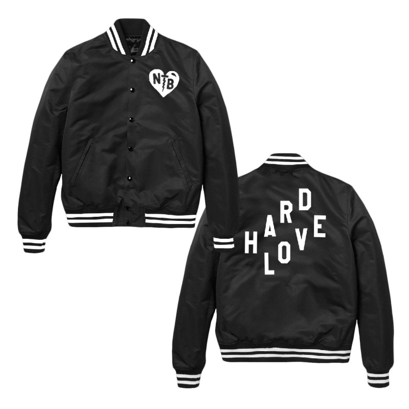 Collegiate HARD LOVE Bomber Jacket