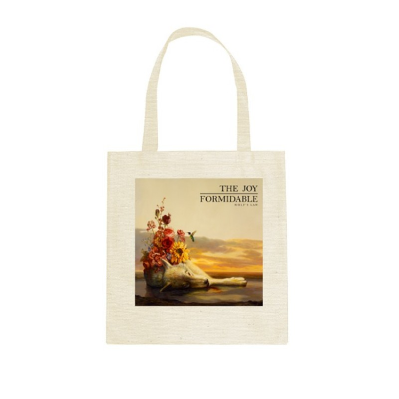 Floral Law Canvas Tote Bag