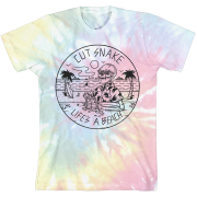 Lifes a Beach Tie Dye Cover T-Shirt