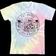 Women's Lifes a Beach Tie Dye Cover T-Shirt