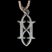 Gemini Syndrome Diecut Metal Keychain