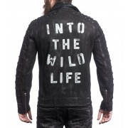 Into The Wildlife Autographed Leather Jacket (Men's)