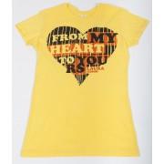 Cutout Heart Juniors T-Shirt