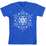 Sacred Snowflake Blue T-Shirt
