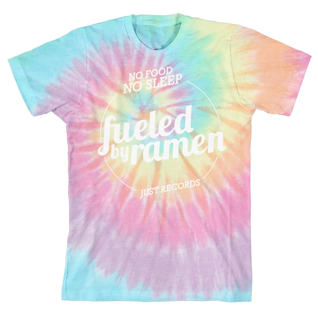 Fbr Just Records Tie Dye T Shirt Fueled By Ramen Artists